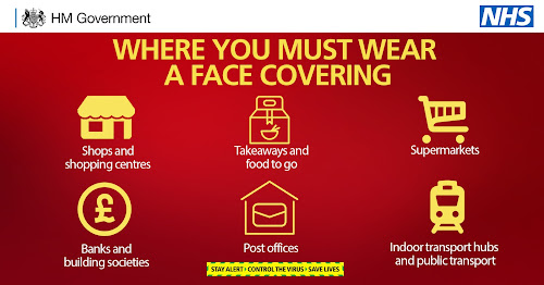 face coverings uk gov public spaces