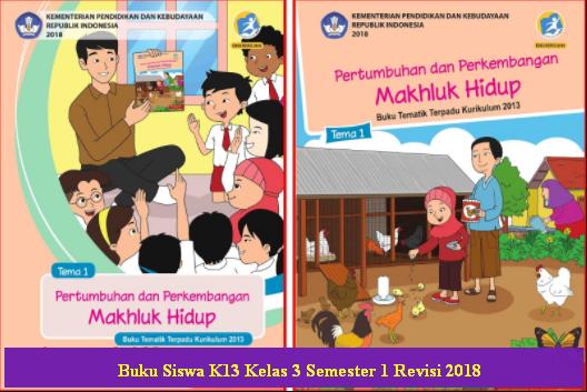 File Buku Siswa Tematik Kelas 3 Semester 1 SD/MI K13 Revisi 2018