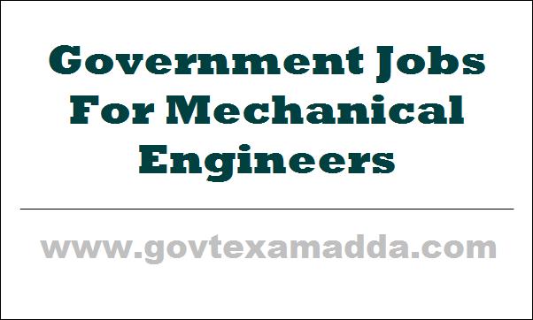 govt jobs for mechanical engineers