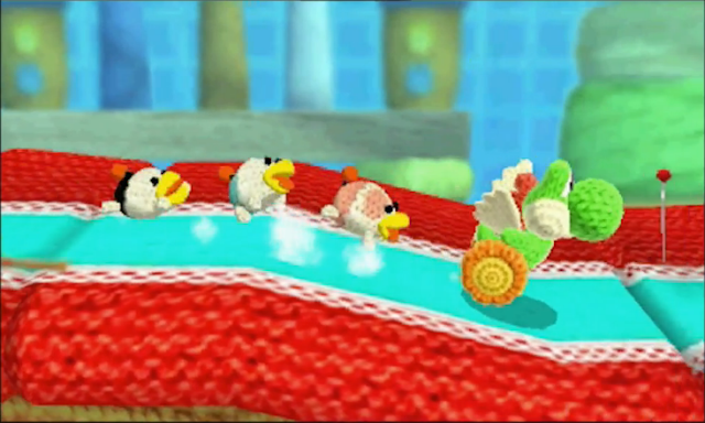 Poochy and Yoshi's Woolly World pups Nintendo 3DS
