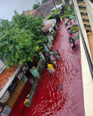 Banjir Merah Pekalongan, Ketua RW: Akibat Pewarna Batik