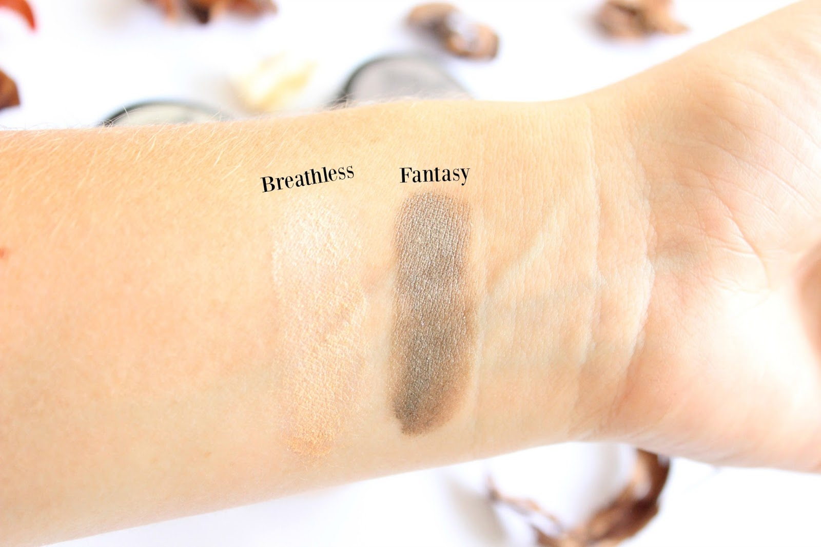 Maybelline Color Tattoo Breathless & Fantasy Swatches
