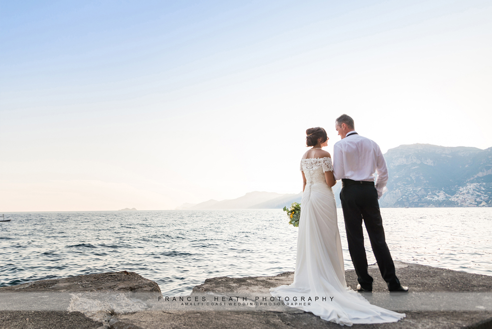 Amalfi coast beach wedding