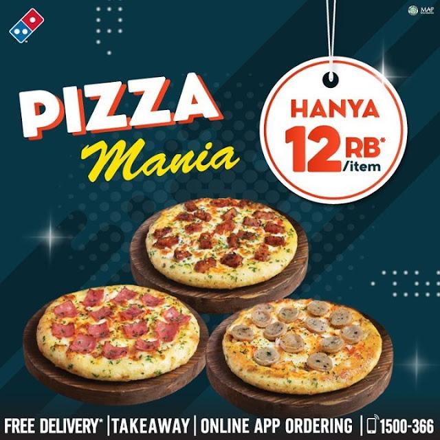 #Dominoz - #Promo Kupon Diskon Pizza Mania Hanya 12 Ribu Per Item