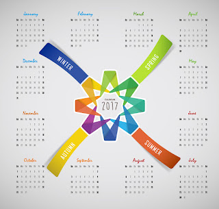 2017カレンダー無料テンプレート56