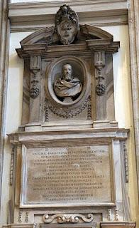 Bernini's monument to Barberini in the church of San Giovanni dei Fiorentini