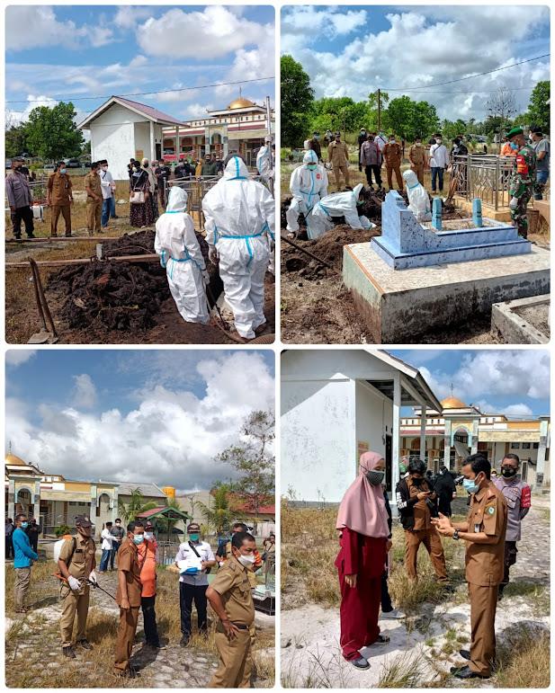 Pengamanan Pelaksanaan Pemakaman Pasien Covid-19 Di Baamang Barat