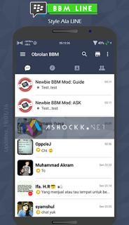 BBM MOD Tema LINE  v2.12.0.9 Update Terbaru