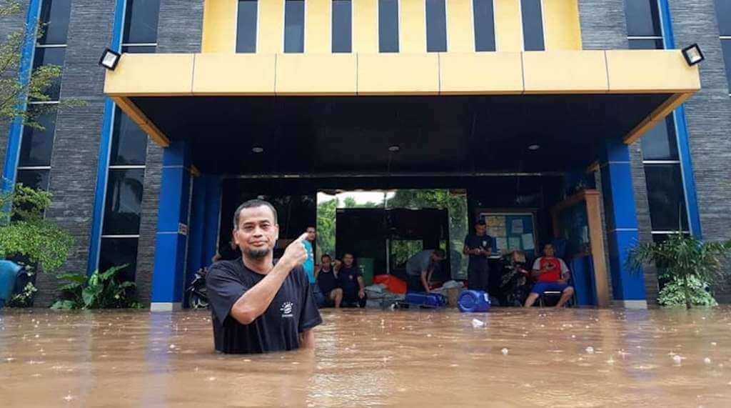 Menteri Keuangan, Sri Mulyani Indrawati Prihatin dengan Banjir Bandang Jakarta