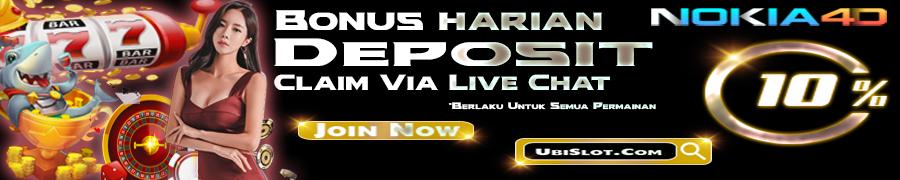 PROMO BONUS DEPOSIT HARIAN 10%