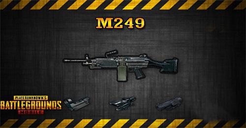 Khẩu pháo máy trung liên M249 với speed bắn khủng là vũ khí ấn tượng để áp chế địch thủ, kể cả khi chúng đi theo đội
