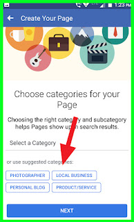 Choose Categories For Page