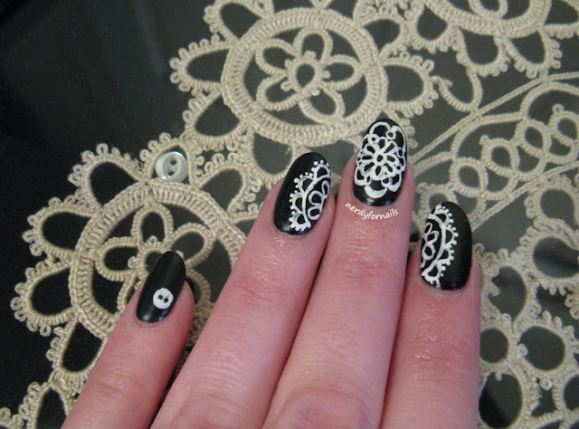 International Tatting Day Tatted Nails April 1