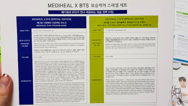Review; Mediheal X BTS' Moisture Barrier Care Special Set