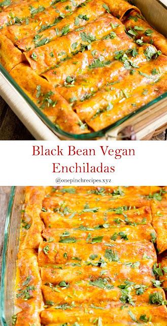 Black Bean Vegan Enchiladas Recipes