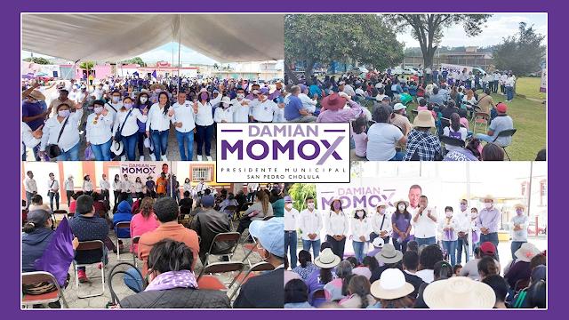 """El """"Candidato del Pueblo"""" inició su cierre de campaña en 5 de las 13 juntas auxiliares"""