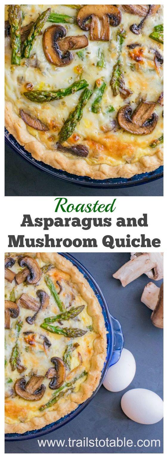 Roasted Asparagus and Mushroom Quiche