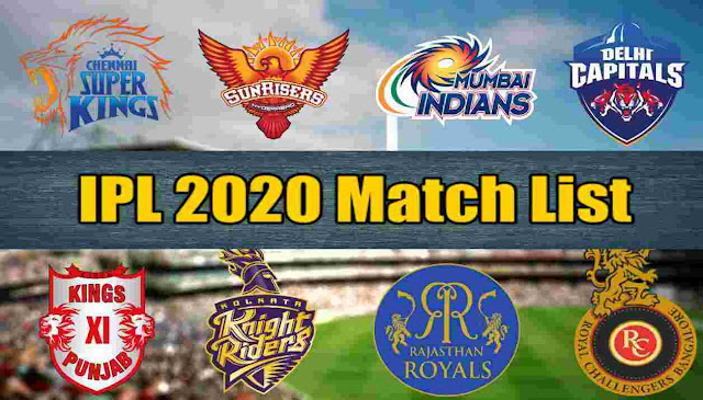 IPL 2020 Time Table