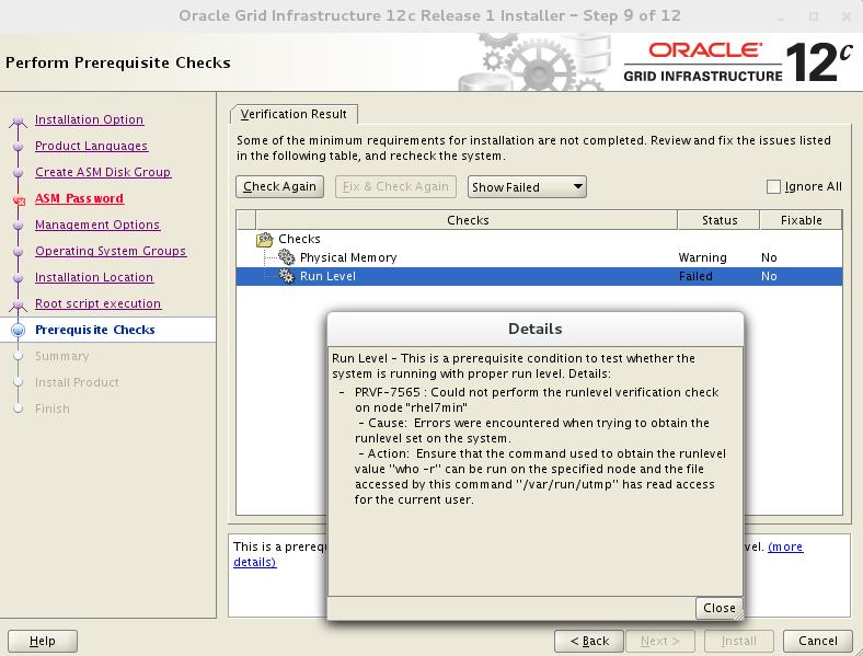 A! Help: Installing Oracle Database 12 1 0 2 on RHEL 7