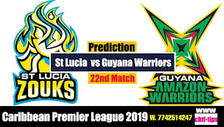 Who will win Today CPL T20 2019 22nd Match Guayna vs St Lucia