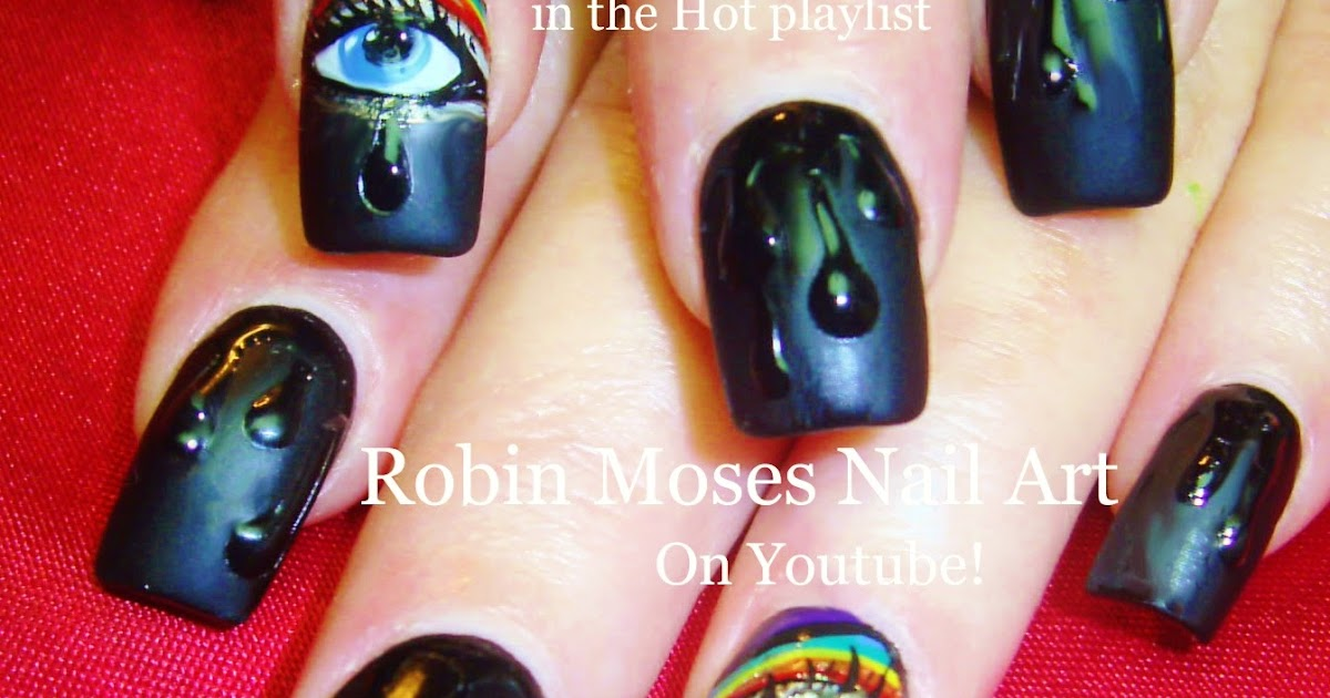 """Nails Art: Robin Moses Nail Art: """"water Drop Nails"""" """"nail Art"""" """"black"""