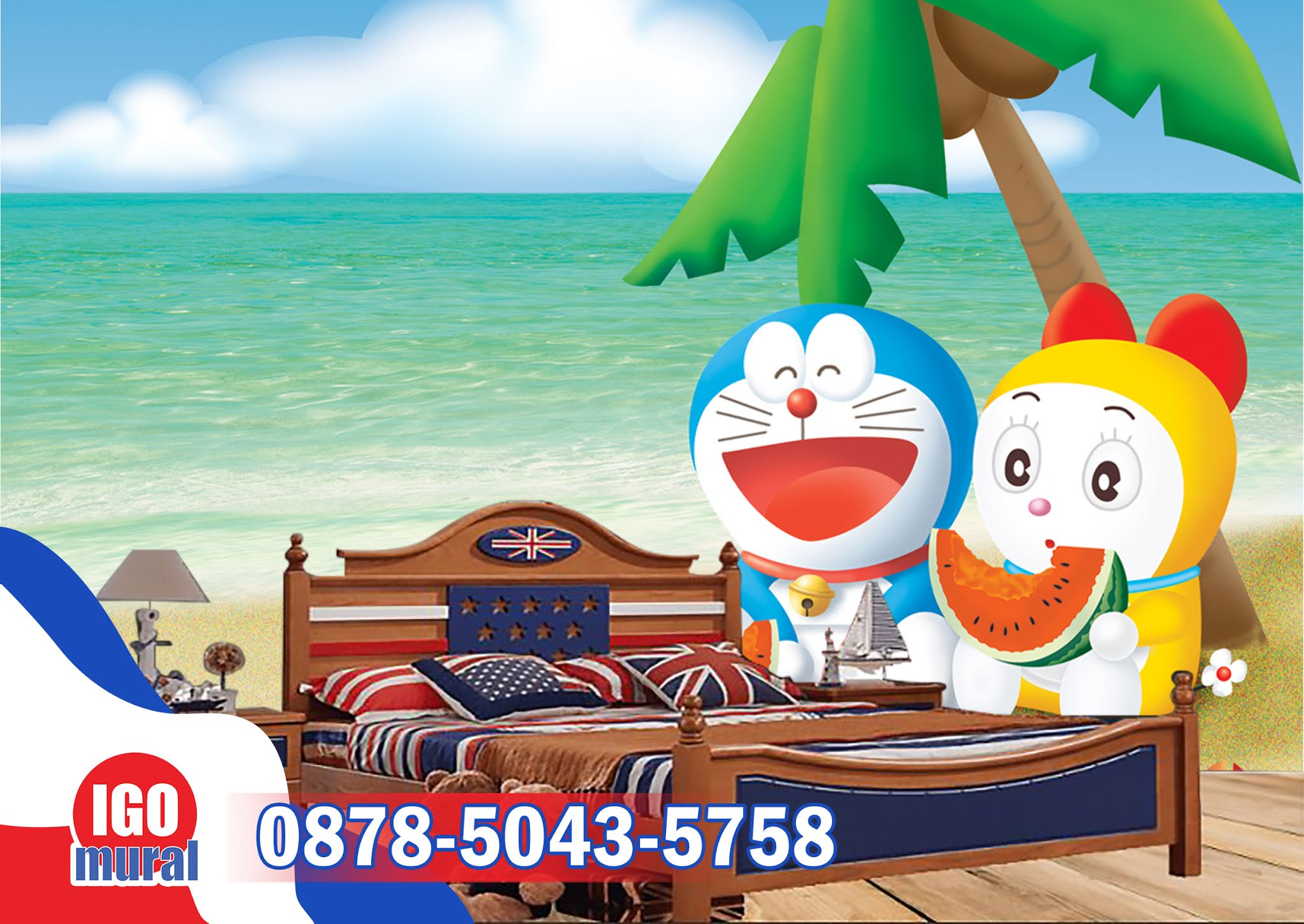 Wallpaper dinding doraemon
