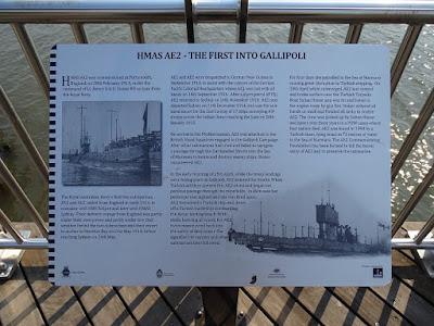Brisbane-Teneriffe: Tafel zu HMAS AE2