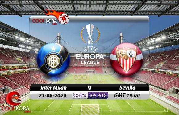 مشاهدة مباراة إنتر ميلان وإشبيلية اليوم 21-8-2020 في نهائي الدوري الأوروبي
