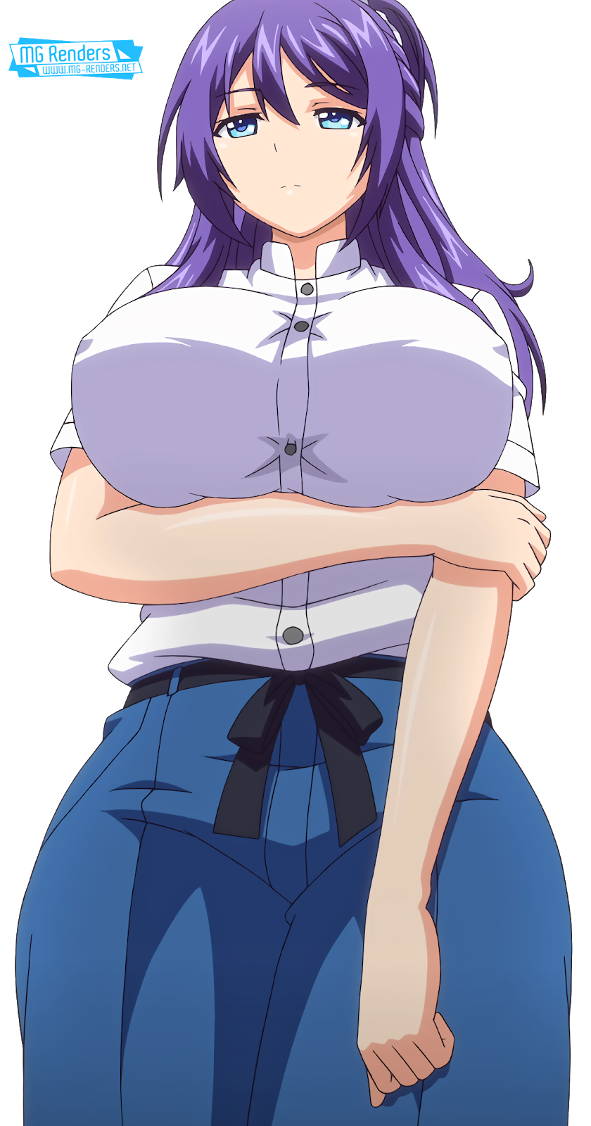 Tags: Render, Erect nipples, Huge Breasts, Large Breasts, Long hair, Mankitsu Happening, Purple hair, Suzukawa Rei