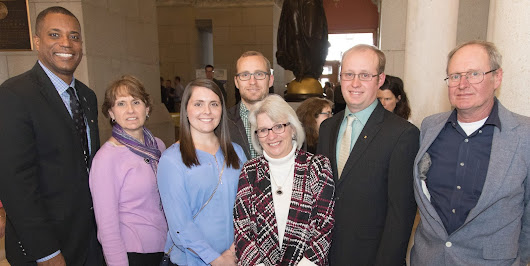 Logan among state lawmakers honoring Bethany farmer