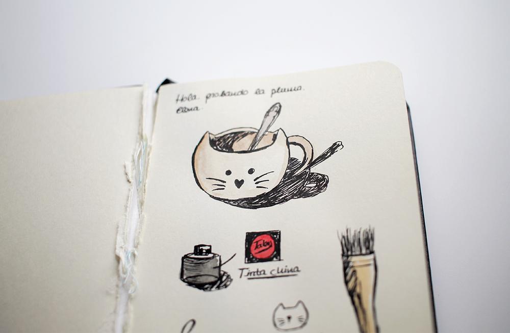 Dibujando experimentando acuarela dibujo