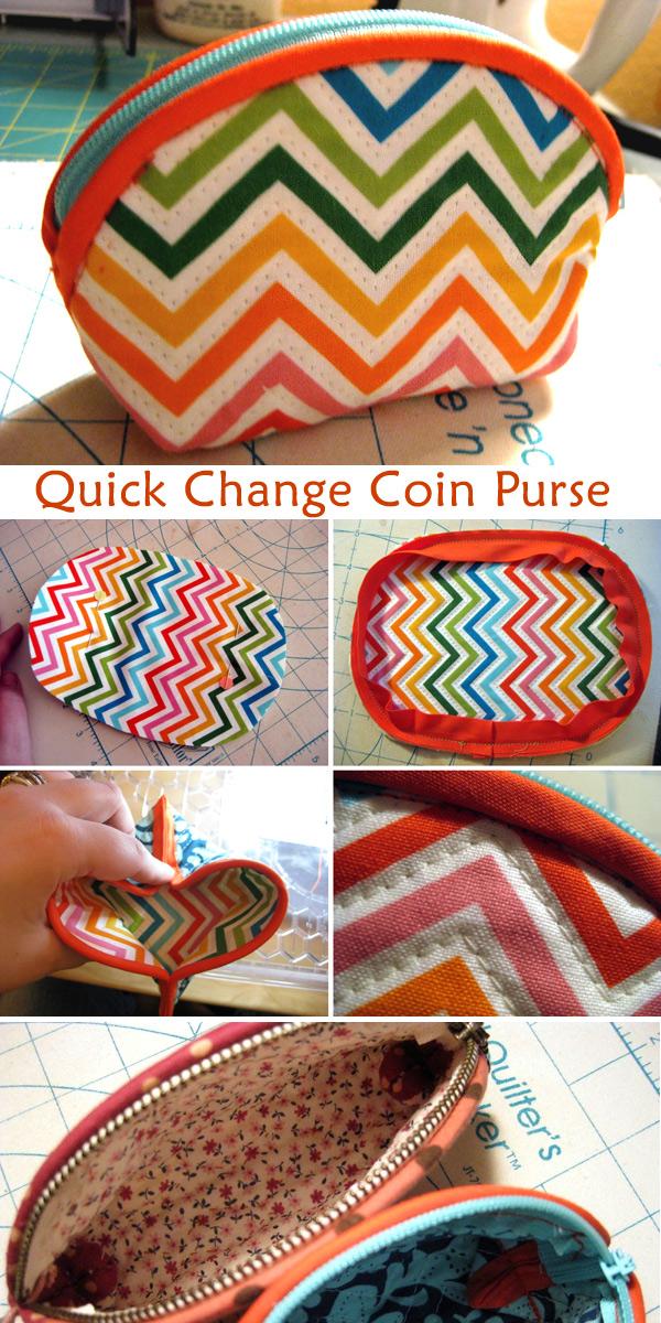 DIY Quick Change Coin Purse