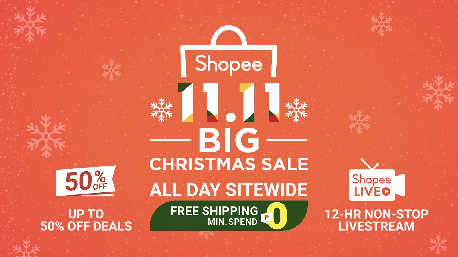 Shopee 11.11 Big Christmas Sale 2019.