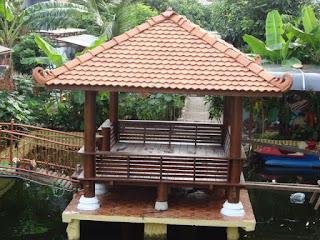 jasa profesional desain lanskap   taman minimalis saung