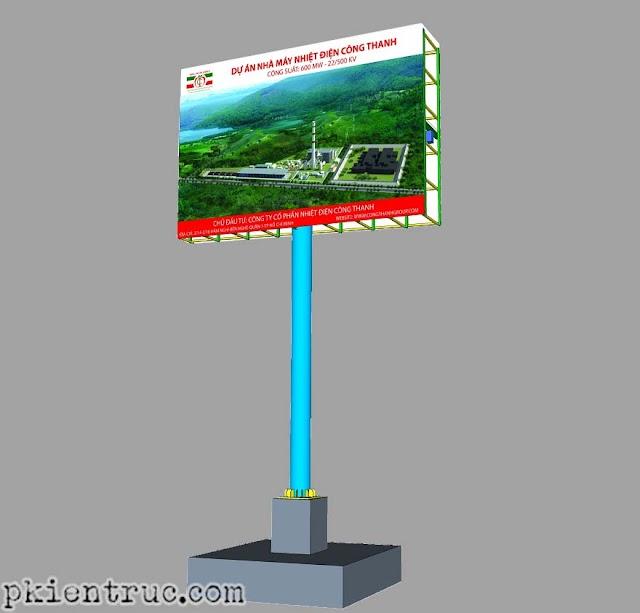 File cad mẫu thiết kế thi công biển hiệu quảng cáo ngoài trời mới nhất