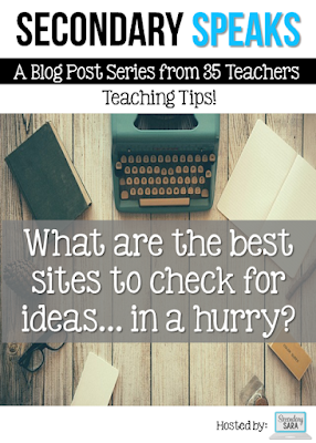 Every teacher runs into that predicament where she realizes she doesn't have an activity for her next class - and they'll be in the room in 15 minutes. When you're in a hurry, you should check out any of the blogs and websites listed in this round-up blog post to help you get ideas!