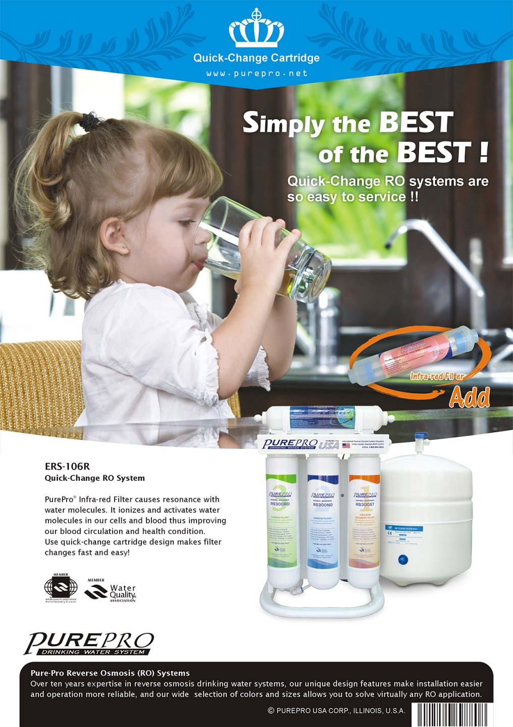 PurePro® USA ERS-106R Quick-Change Reverse Osmosis Water Filter Systems