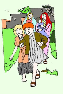 Bambini che vanno da Gesù