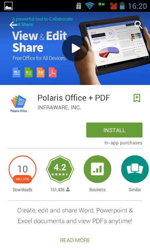 Aplikasi Android Terbaru 2015 - Edit Dokumen Polaris Office