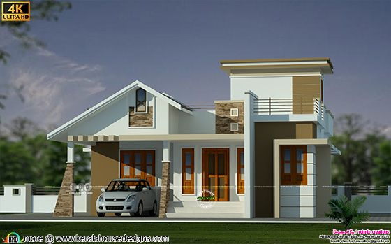 Front view rendering of the house