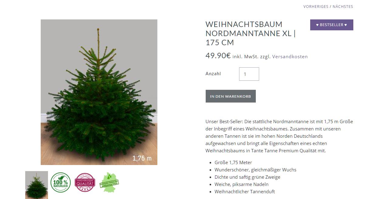 einfach zum wunschtermin liefern lassen unser tannenbaum kommt von tante tanne. Black Bedroom Furniture Sets. Home Design Ideas
