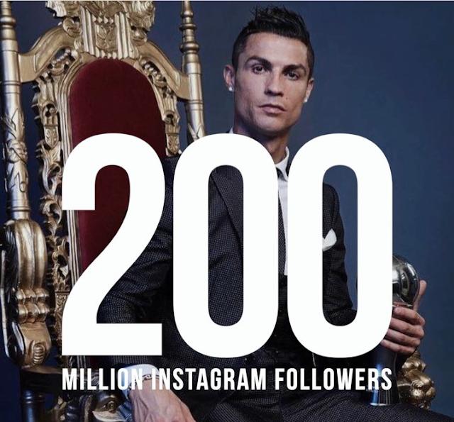 Cristiano Ronaldo Followers 200