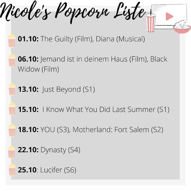 Popcorn Liste Oktober, Streaming Neustarts Oktober, Serienjunkie, Filmblogger