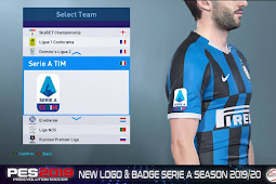 Serie A Season 2019/2020 Logo & Badge - PES 2019