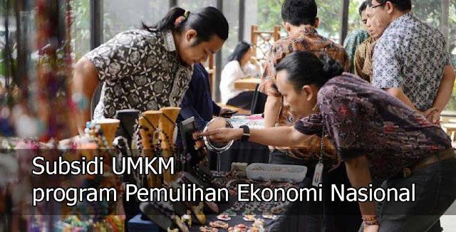 Cek Subsidi UMKM program Pemulihan Ekonomi Nasional