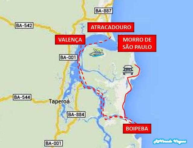 Como ir de Morro de São Paulo para Boipeba