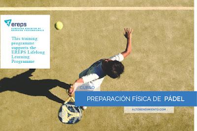 Curso Preparación Física de Pádel Online en el Centro de Formación Alto Rendimiento.