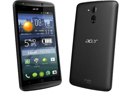 Spesifikasi dan Harga Acer Liquid E700, Smartphone Android Triple SIM RAM 2 GB