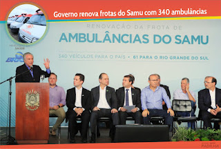 Governo renova frotas do Samu com 340 ambulâncias