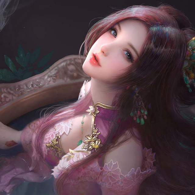 Diao Chan Worship On The Moon Wallpaper Engine